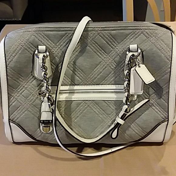 103cb2e86f Coach Handbags - Coach gray wool satchel